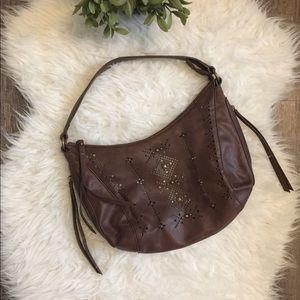 Lucky Brand cut out geometric design shoulder bag